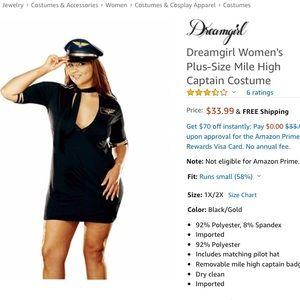 Dreamgirl Dresses - Women's Plus-Size Mile High Captain Costume 1X/2X